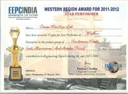 STAR PERFORMER WESTERN REGION AWARD FOR 2011-12