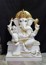 Plain Marble God Ganesh Idol Packaging Type Wooden Box Rs 35000