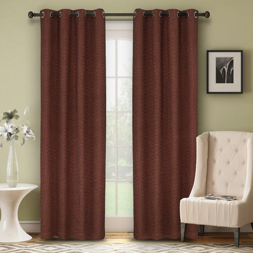 Eyelet Curtains - Maroon Curtain Manufacturer from Panipat