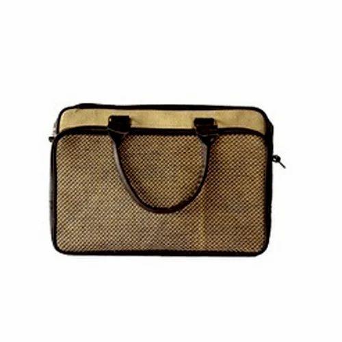 Jute Light Brown Laptop Bag