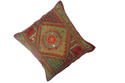 Rajasthani Alteration Mirror Cushion Cover