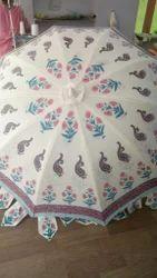 Hand Block Printed Garden Umbrella