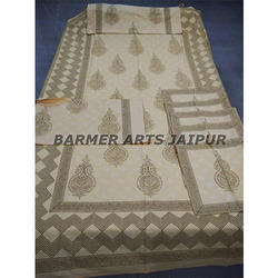 Cotton Hand Block Printed Bed Sheets Set (1 2 5)
