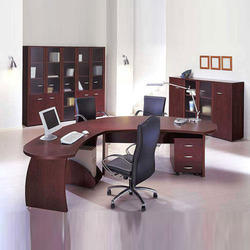 Wooden L Shape Office Furniture