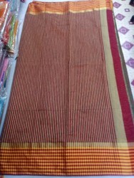 Zari Linen Kolkata Linen Cotton Saree
