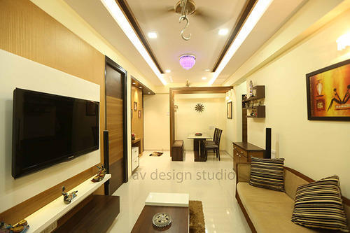 Living Room Design Services in Kandivali East, Mumbai | ID ...
