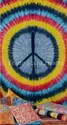 Rectangle Multicolor Tie Dye Peace Tapestry Bohemian Indian Wall Hanging, Size: 140 X 220 Cms