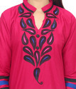3/4th Sleeve Embroidered Designer Kurti