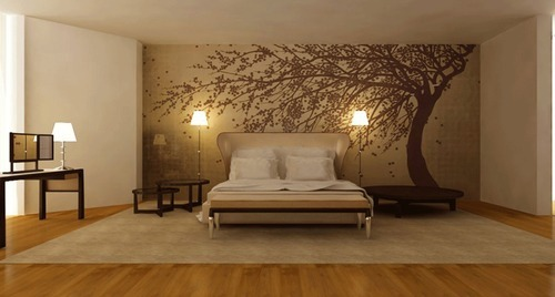 Customized Bed Room Wallpaper