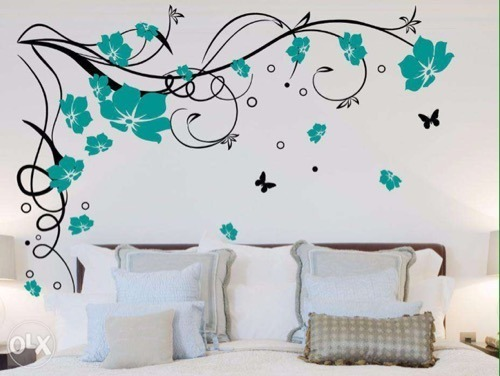 Superior Flower Design Wall Painting