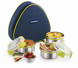 Magnus Comfy Triangle Lunch Box With Three Containers