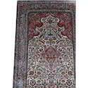 Printed Kashmiri Silk Carpets, Shape: Rectangular