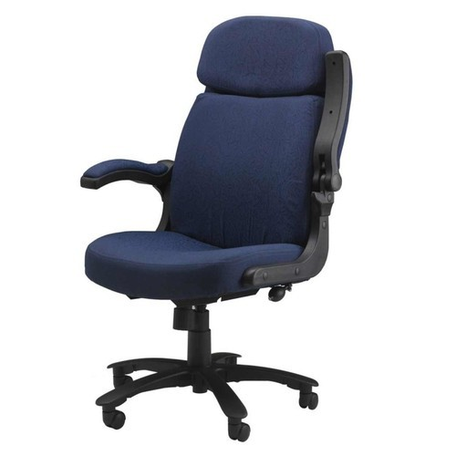 Revolving Blue And Black Flip Up Arms Office Chair Rs 7000 Piece