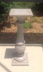 Stone Pedestal Plant Stand