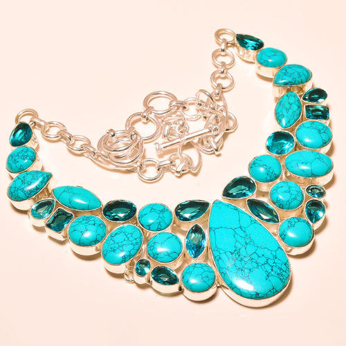 Santa Rosa Turquoise Sterling Silver Necklace