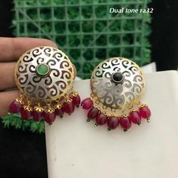 oxidized earring.