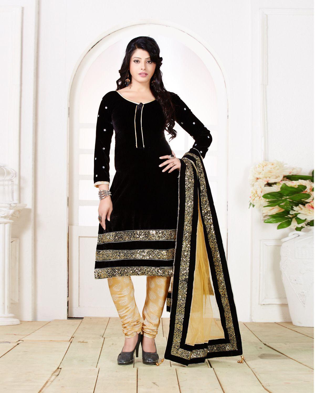 208bed467e Chiffon Black Indian Salwar Suit, Rs 2245 /piece, Ishika Fashion ...