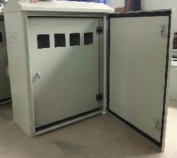 White GI Outdoor Meter Box