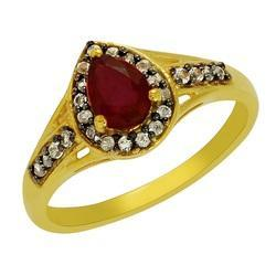 SHRI0111 Natural Ruby Silver Ring