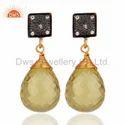 Drop Lemon Topaz Gemstone Silver Earrings Jewelry