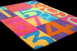 Hand Tufted Kids Cotton Carpet