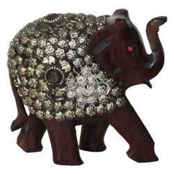 Wooden Stone Work Elephant
