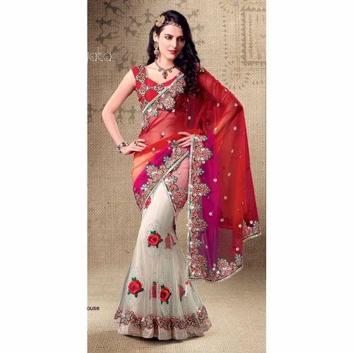 e30755d1f2 Triveni Colors Of Happiness Embroidered Lehenga Saree ...