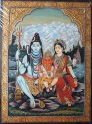 Shiva Family Painting