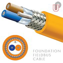 Udey PyroCables Orange Shielded Foundation Fieldbus Cable
