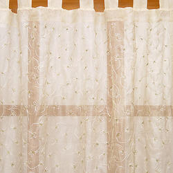 Embroidered Crewel Curtain