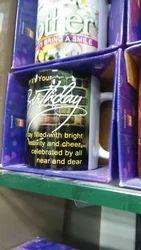 Message Birthday Black Muge