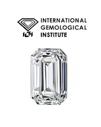 IGI Certified White Emareld Cut Real Diamond