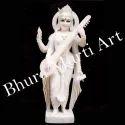 White Marble Standing Saraswati Statue