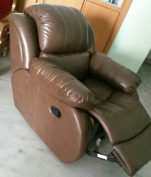 Leather Recliner Sofa