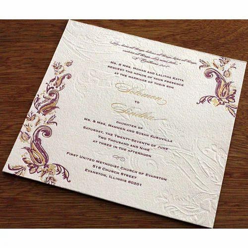 Wedding Invitation Card Printing Service