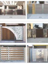 kerala house front gate models