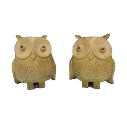 Wooden Carved Owls