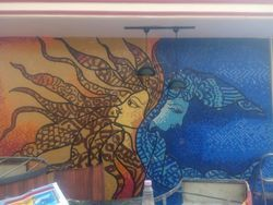 Multicolor Glossy FRP Wall Mural