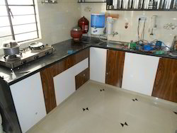 L Shape Laminated Modular Kitchen