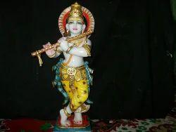 Damodar Krishna Marble Statue