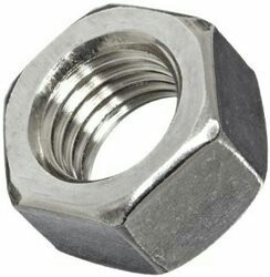 Stainless Steel Polished Super Duplex Hex Nut, Grade: SS304, Size: 3 Mm