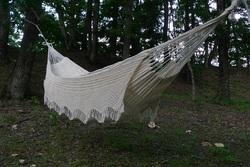 Hammock with Crochet Border