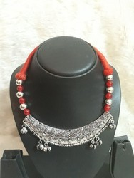 Oxidized German red Threaded Neck Piece