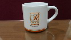 White Sublimation Tea Mug Printing Service