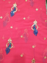 Georgette Fancy Embroidery Fabric