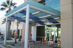 Frame Type Glass Canopy