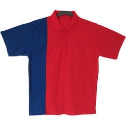 Blue and Red Collar T-Shirt
