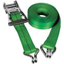 Goradia Ratchet Tie Down Double J Hook, Color: Green
