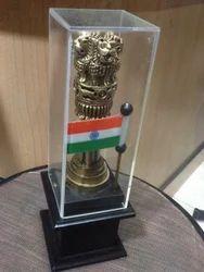Wooden Flag Ashoka Pillar