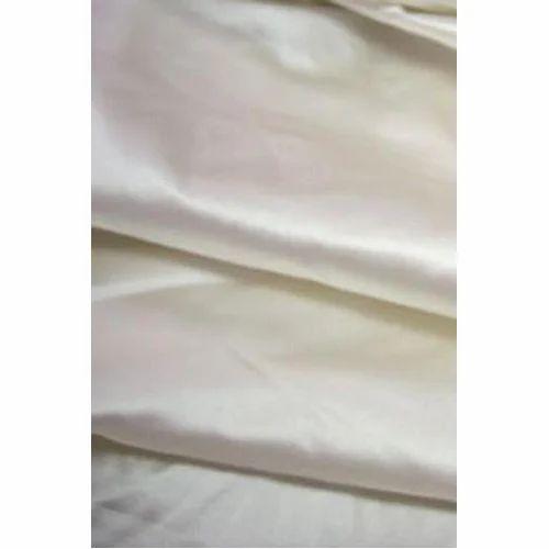 53 Momme White Polyester Duchess Satin Majestic Fabrics